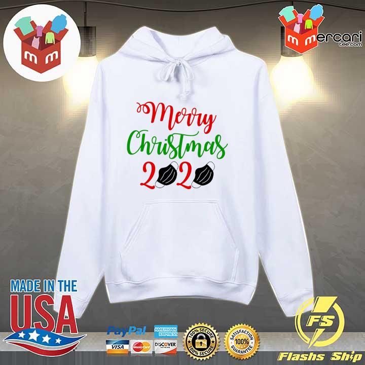 2020 merry christmas 2020 face mask sweats Hoodie