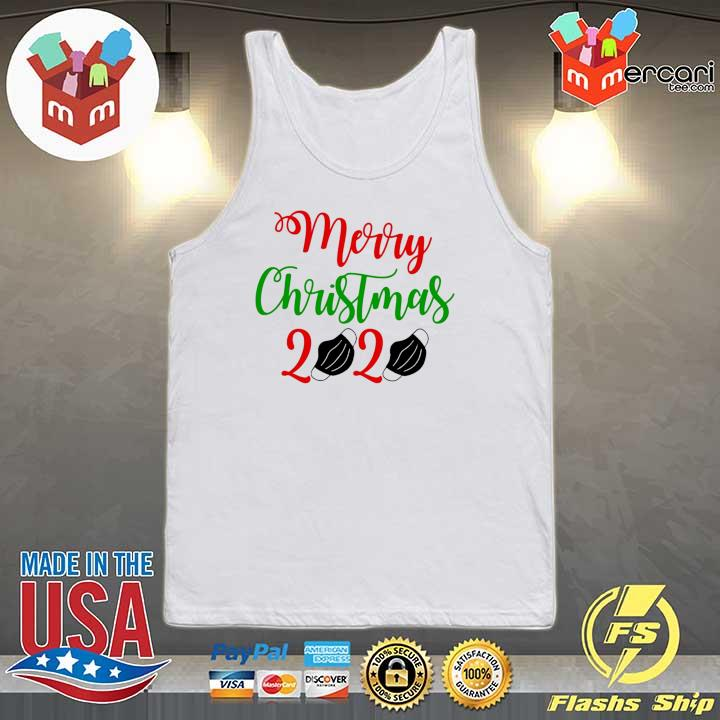 2020 merry christmas 2020 face mask sweats Tank-top