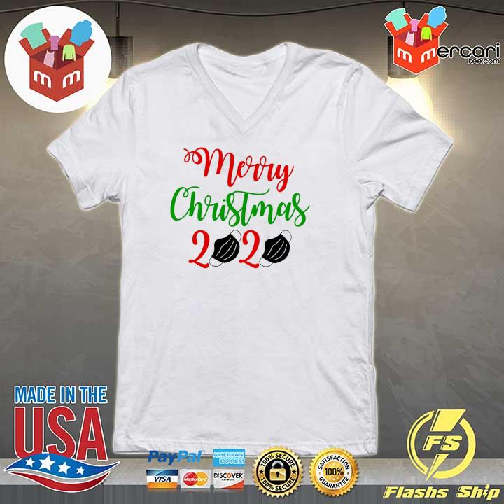 2020 merry christmas 2020 face mask sweats V-neck