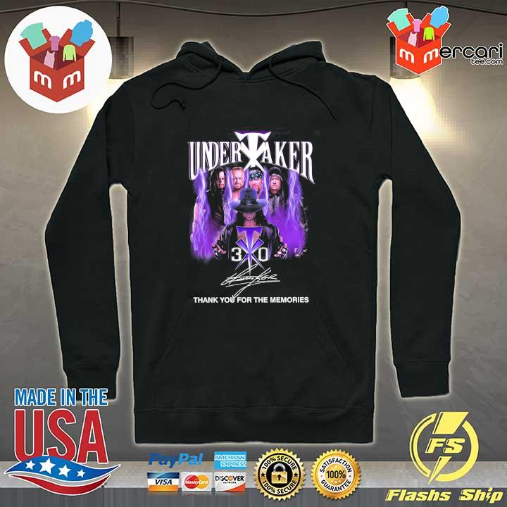 2020 undertaker signature thank you for the memories sweats Hoodie