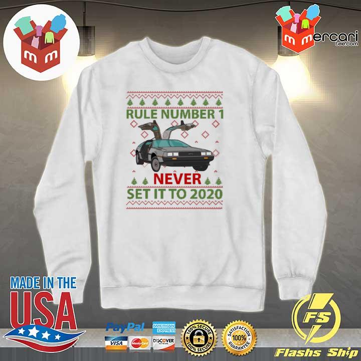 Marty Rule Number 1 Never Set It To 2020 Christmas Sweats Sweater