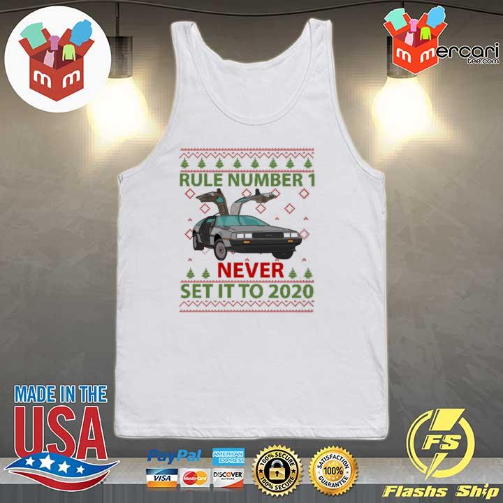 Marty Rule Number 1 Never Set It To 2020 Christmas Sweats Tank-top