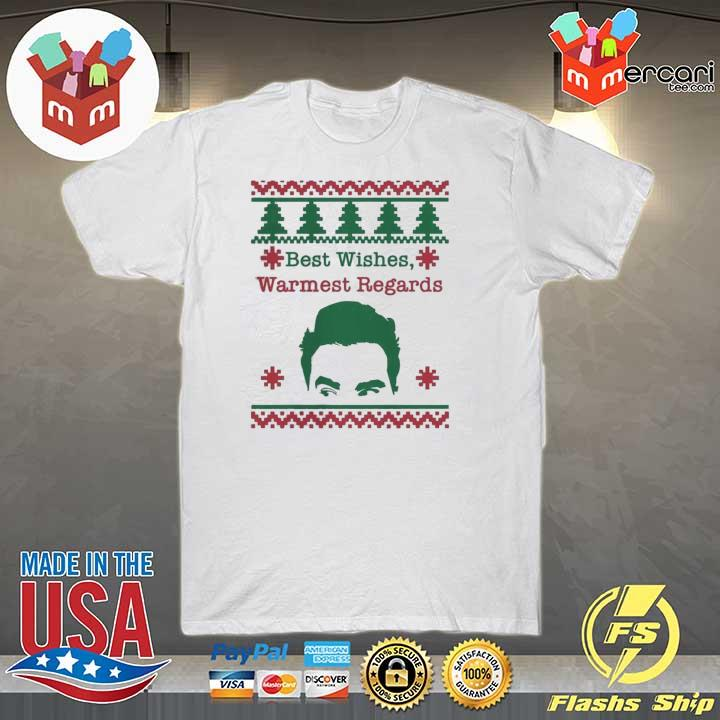 Official best wishes warmest regards david rose funny rose family schitts creek ugly christmas shirt