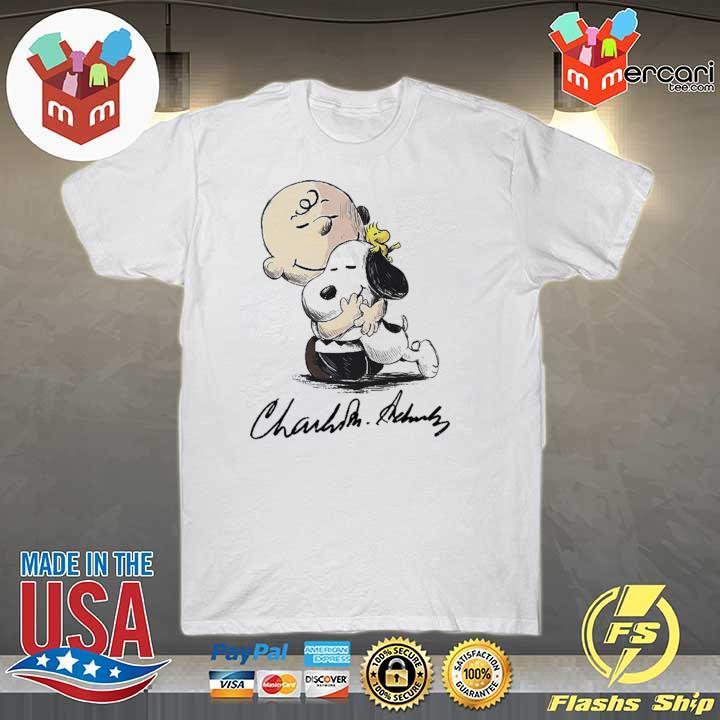 Official snoopy hug charlie brown and woodstock signature sweatshirt
