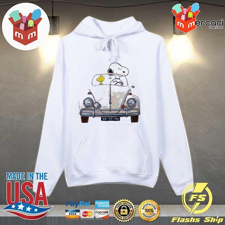 Official vw beetle car snoopy and woodstock sweats Hoodie
