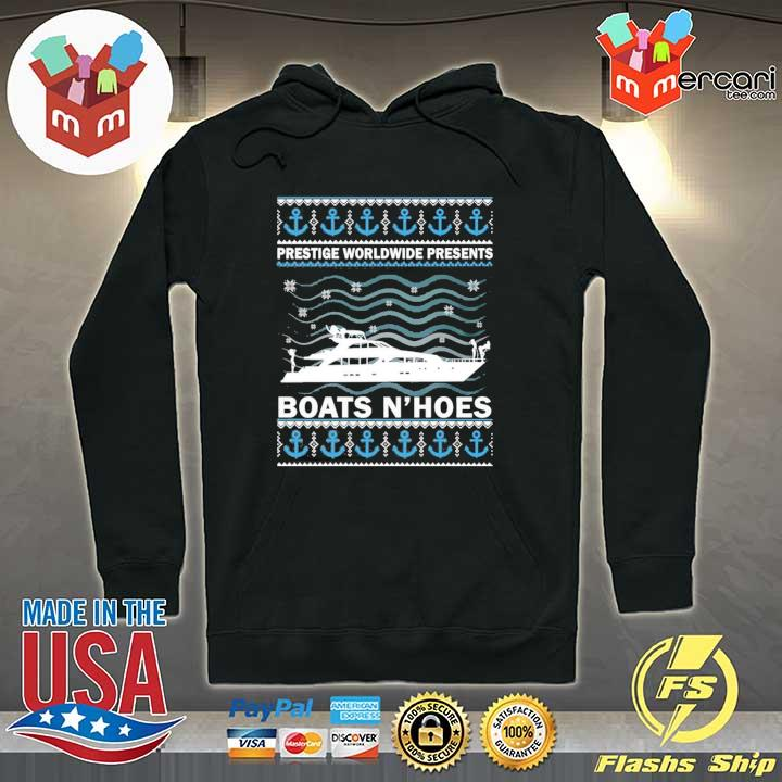 Premium prestige worldwide present boats hoes christmas sweater, s Hoodie