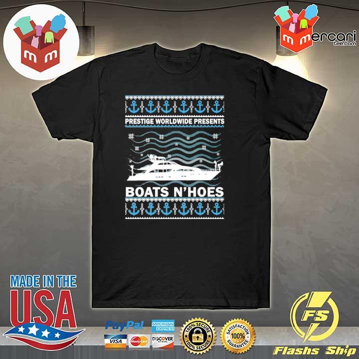 Premium prestige worldwide present boats hoes christmas sweater, shirt