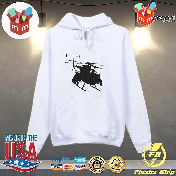 Santa Claus Helicopter Merry Christmas Sweats Hoodie