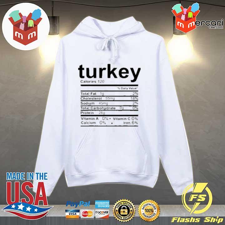 Turkey Nutritional Facts Thankgiving Day Sweats Hoodie