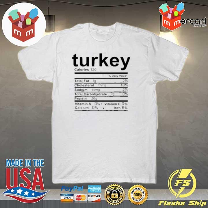 Turkey Nutritional Facts Thankgiving Day Sweatshirt