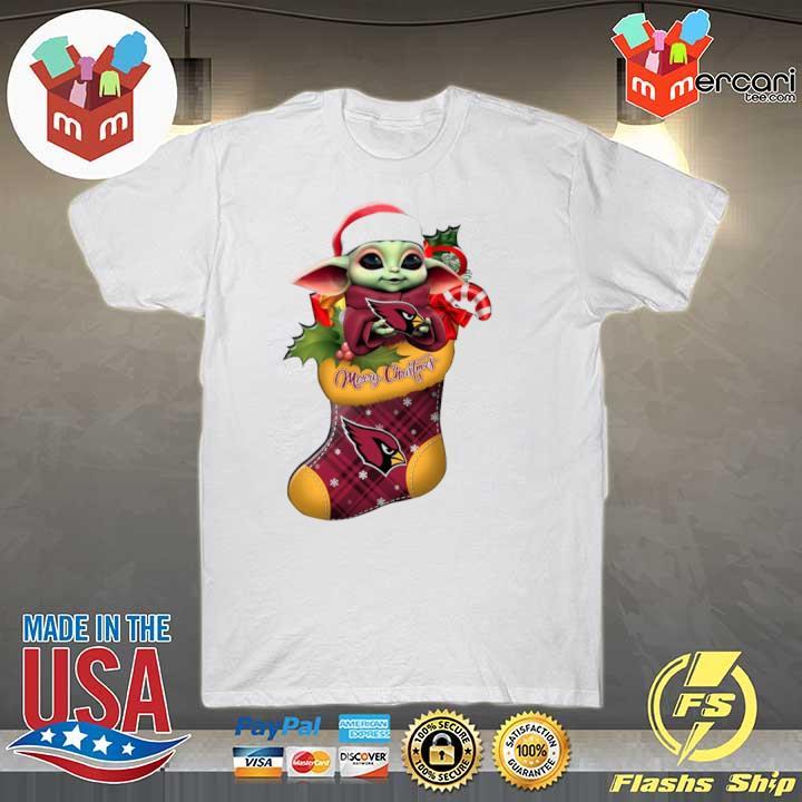 2020 baby yoda hug arizona cardinals ornament merry christmas 2020 shirt