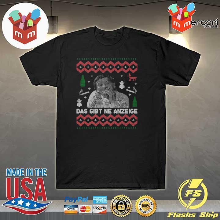2020 das gibt ne anzeige ugly christmas shirt