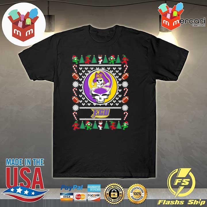 2020 east carolina pirates grateful dead ugly christmas xmas ugly sweatshirt