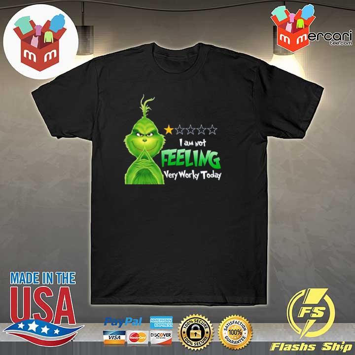 2020 grinch i am not feeling very worky today shirt
