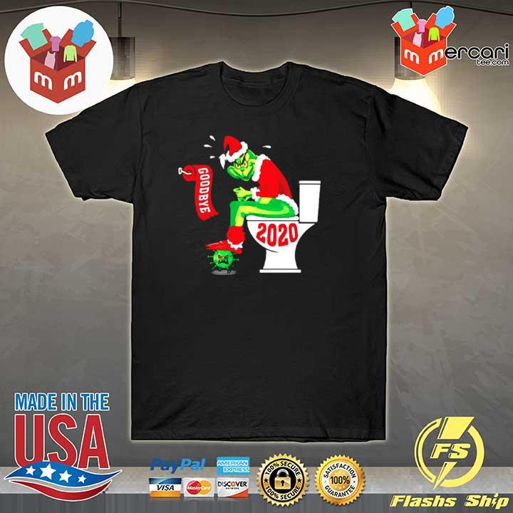 2020 grinch santa toilet goodbye coronavirus 2020 shirt
