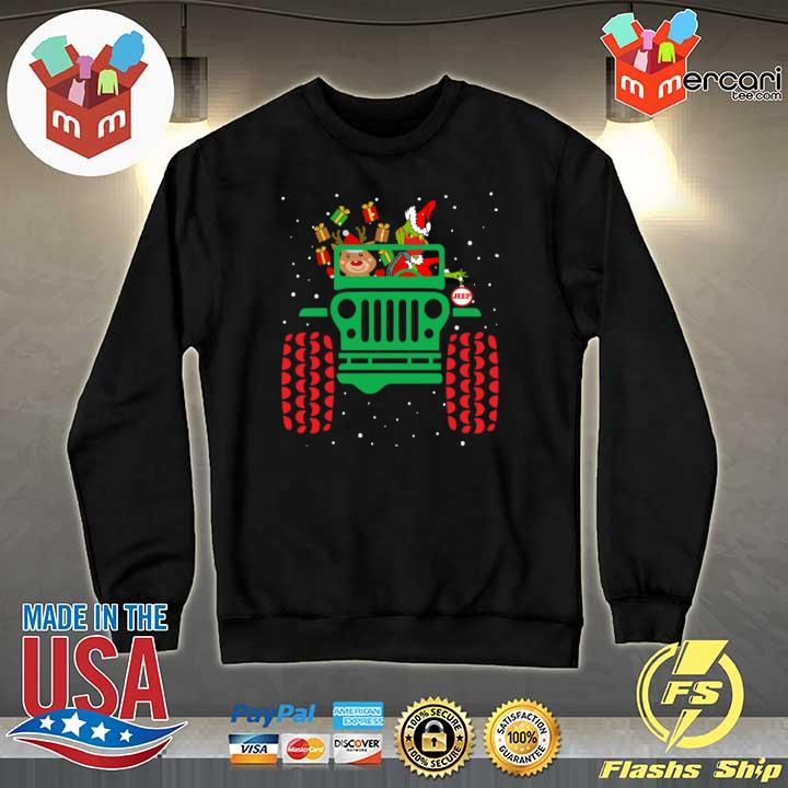 2020 grinch wearing face mask ugly christmas gift s Sweater