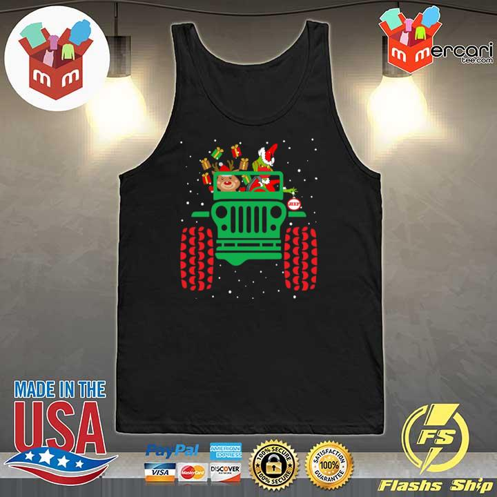 2020 grinch wearing face mask ugly christmas gift s Tank-Top
