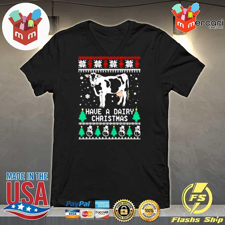 2020 have a dairy ugly christmas s V-neck