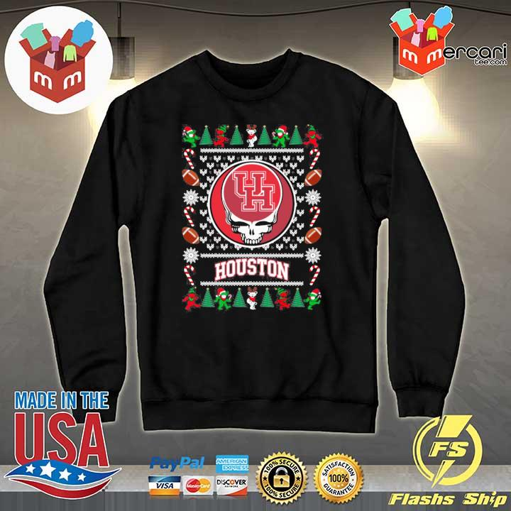 2020 houston cougars grateful dead ugly christmas xmas ugly sweats Sweater