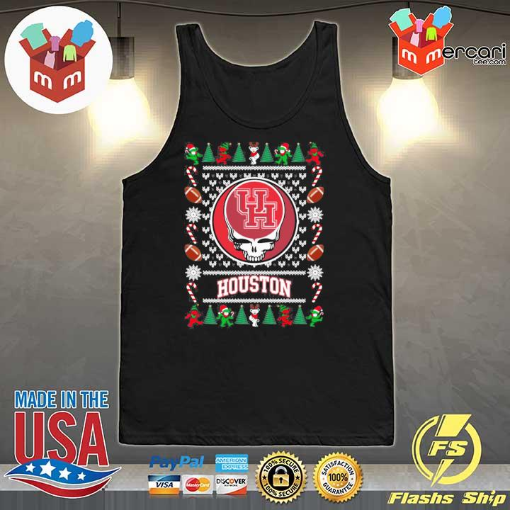 2020 houston cougars grateful dead ugly christmas xmas ugly sweats Tank-Top