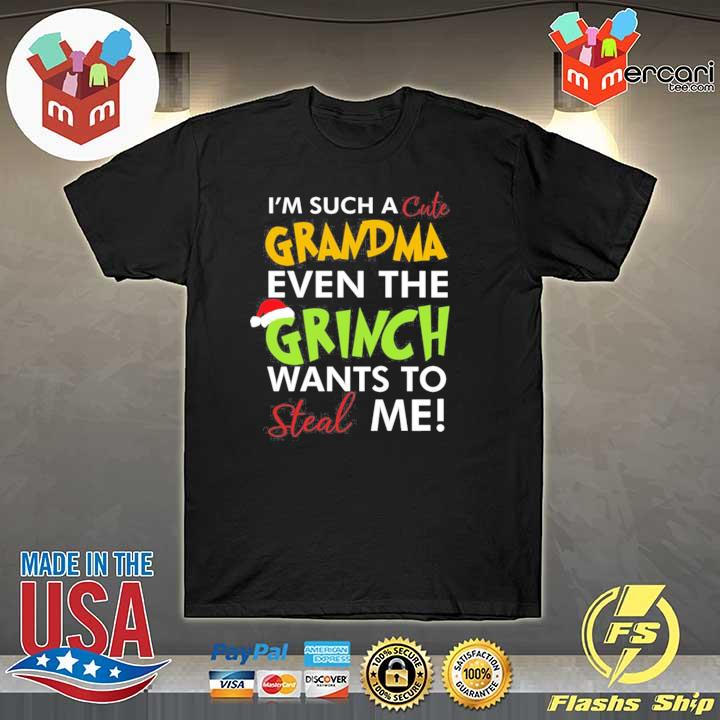 2020 i'm such a cute grandma even the grinch wants to steal me christmas sweatshirt