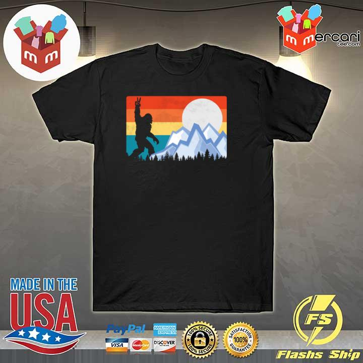 2020 vintage bigfoot sunset hiking outdoors wilderness sweatshirt