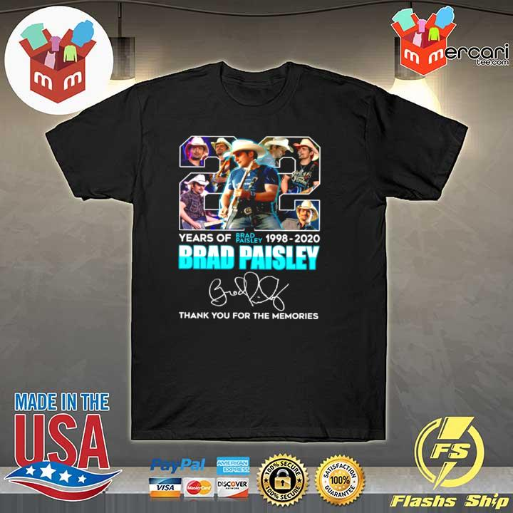 22 Years Of Brad Paisley 1998 2020 Brad Paisley Thank You For The Memories shirt