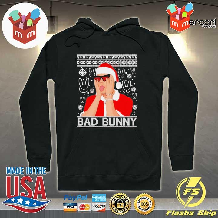 Bad Bunny Christmas Ugly Sweats Hoodie