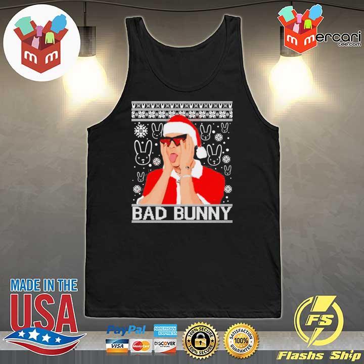 Bad Bunny Christmas Ugly Sweats Tank-Top