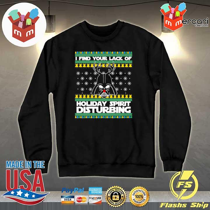 Darth Reindeer I Find Your Lack Of Holiday Spirit Disturbing Xmas Ugly Sweats Sweater