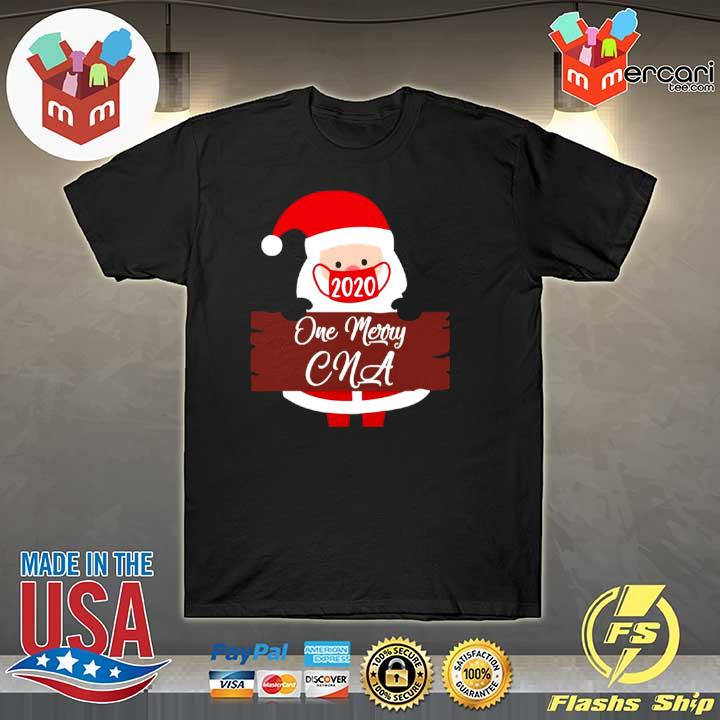 Santa Claus Face Mask 2020 One Merry CNA Christmas Sweatshirt