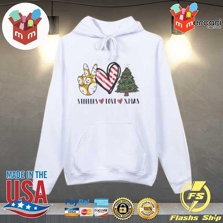 Steelers Love Xmas Christmas Tree Heart s Hoodie