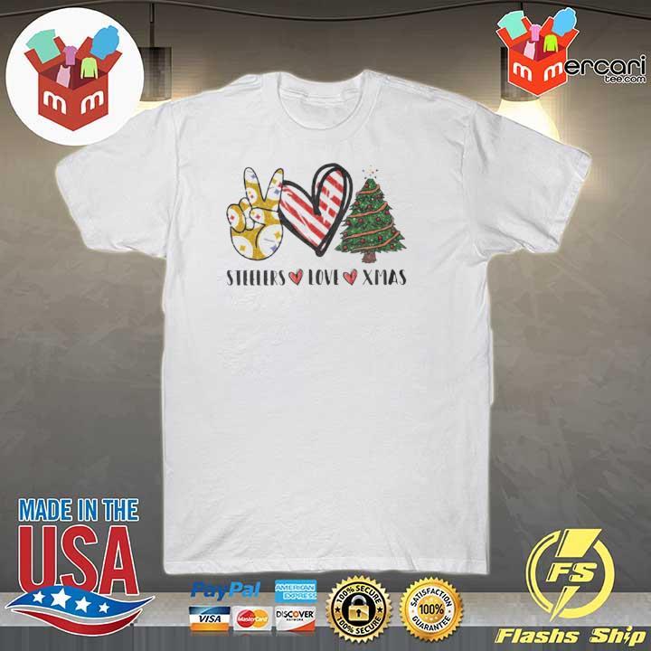 Steelers Love Xmas Christmas Tree Heart shirt