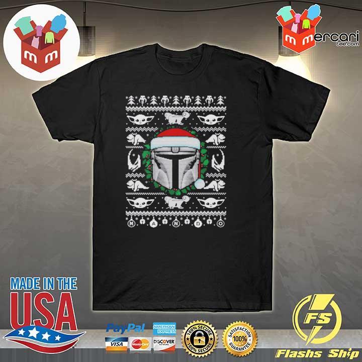 The Mandalorian Baby Yoda Christmas Xmas Ugly Sweatshirt