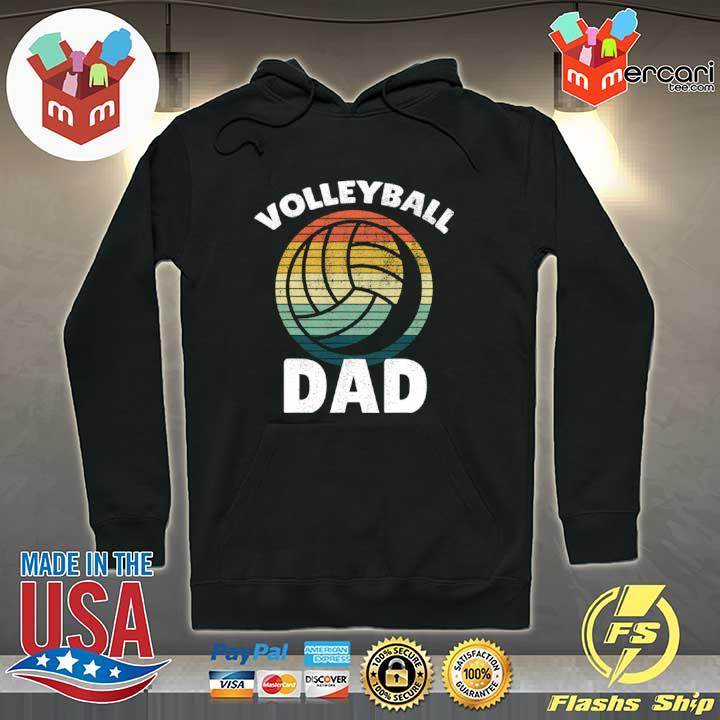Volleyball Vintage I Dad Father Support Teamplayer Shirt Hoodie