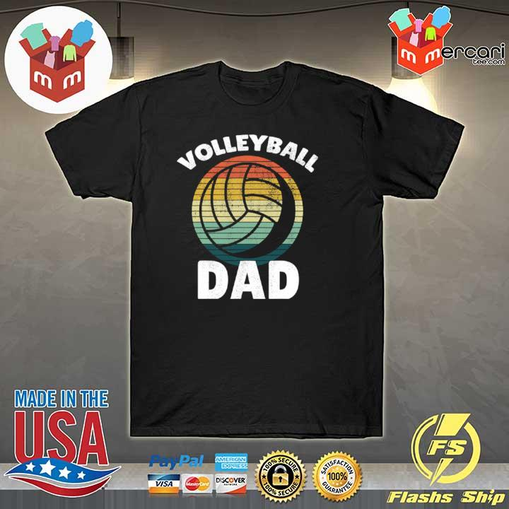 Volleyball Vintage I Dad Father Support Teamplayer Shirt