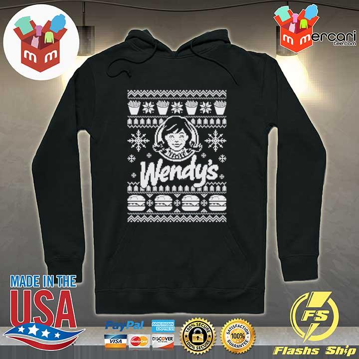Wendy's Christmas Xmas Ugly Sweater Hoodie