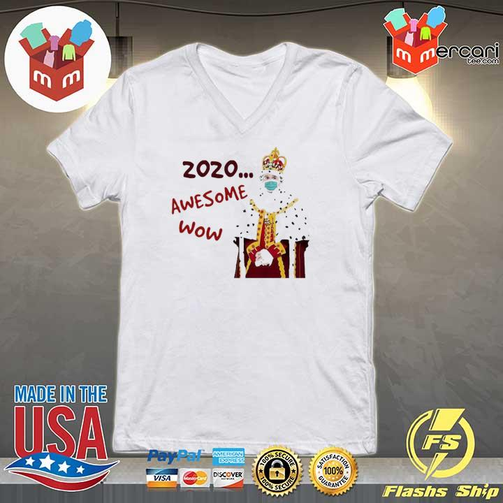 2020 awesome wow hamilton king george s V-neck