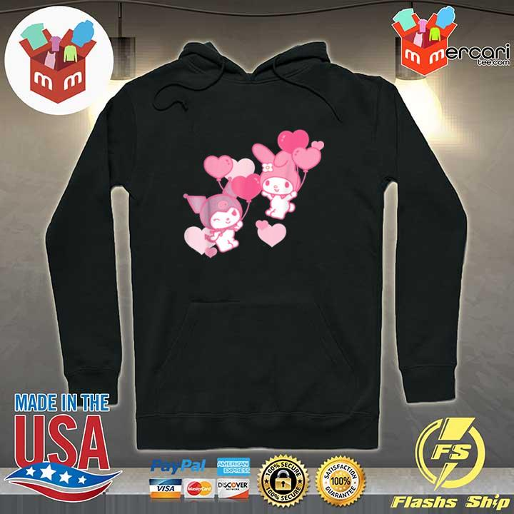 My Melody and Kuromi Valentine's Day Hearts Shirt Hoodie