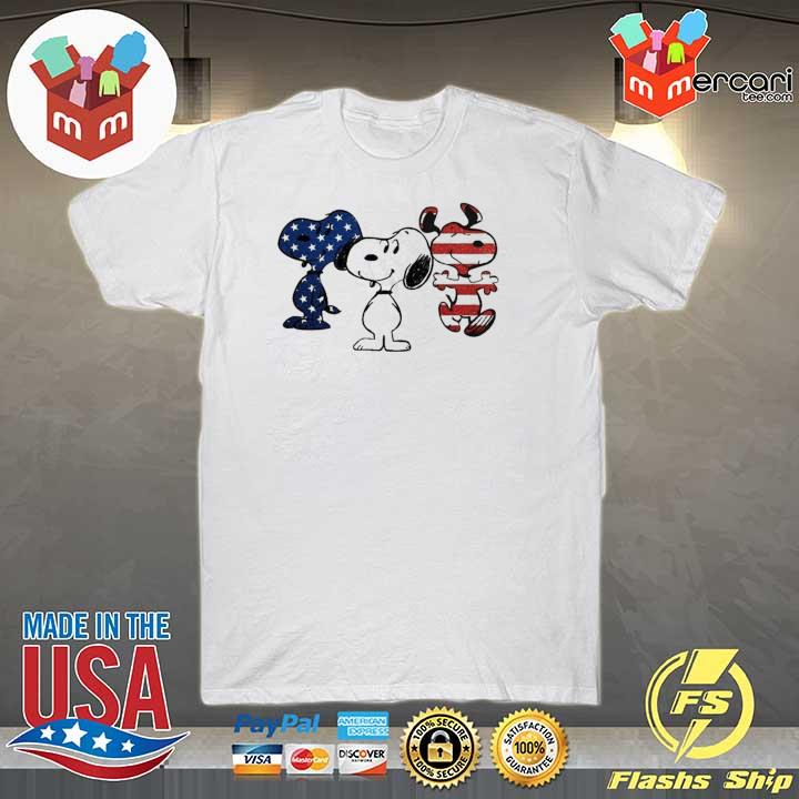 Snoopy American flag version shirt